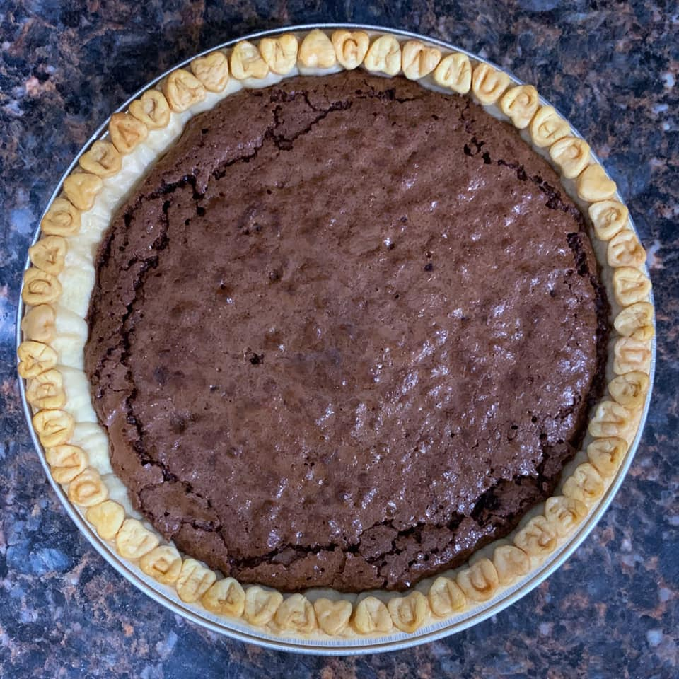 Fathers Day Fudge Pie
