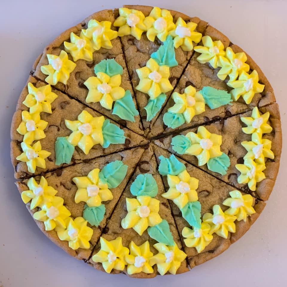 Buttercup Festival Chocolate Chip Cookie Cake