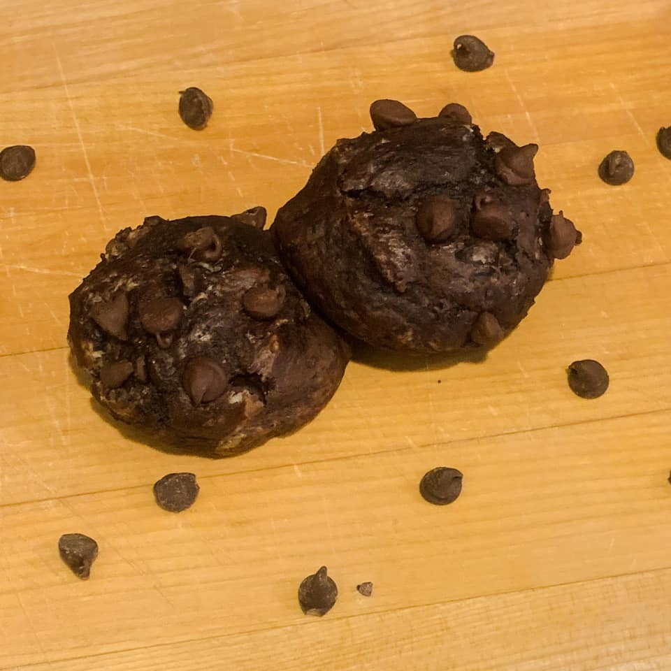 Double Chocolate Muffin Tops