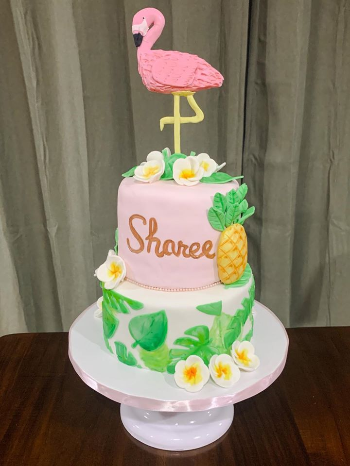 Lets Flamingle Tiered Cake